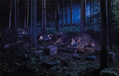 untitled man in the woods from beneath the roses by gregory crewdson