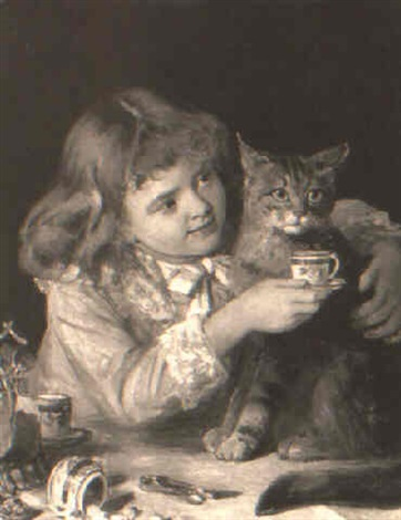 the cats teatime by william hippon gadsby