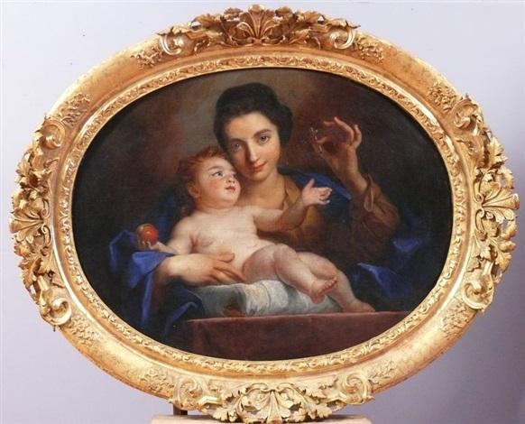 portait dune jeune mère en vierge avec lenfant jésus by jean baptiste santerre
