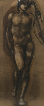 study for the prince in the briar wood by edward burne-jones