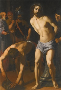 christ at the column by italian school-roman (17)