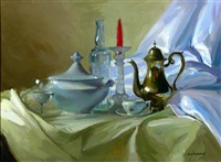 bodegón sobre una mesa by f. santamans