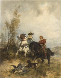 horses and a man by wilhelm karl räuber