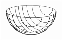 thin black lines (8600mm bowl) by nendo