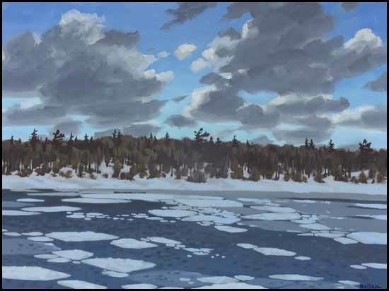 winter landscape by bruno joseph bobak