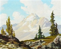 mountain landscape by duncan mackinnon crockford