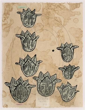 flowers portfolio of 5 by donald baechler