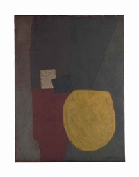 composition au cercle jaune (composition with yellow circle) by serge poliakoff