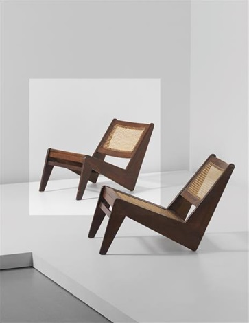 rare low chair model no pj si 59 a designed for private residences and the general hospital entrance chandigarh by pierre jeanneret