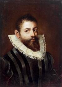 bildnis eines herrn mit weißem spitzenkragen by frans pourbus (-unattributable)