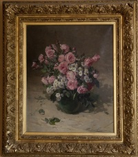 nature morte aux roses by pauline caspers