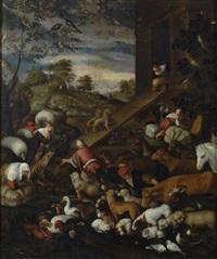 l'ingresso degli animali nell'arca di noè by leandro da ponte bassano