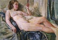 liegender, weiblicher akt by bozena vohankova