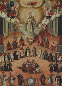 the virgin of mercy with saints by peruvian school-cuzco (18)