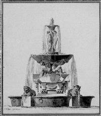 fountain with porphyry basins by jean-eric rehn