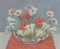 anemonies and freesia by emma fordyce macrae
