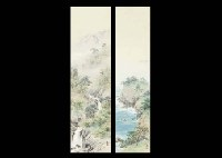 mountain stream (+ fisherman; 2 works) by iwao yamashita