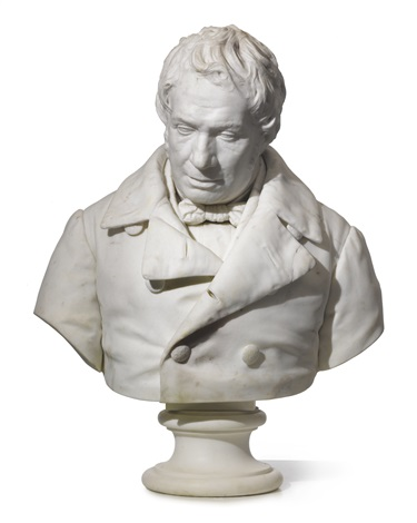 a bust of a gentleman by anonymous french 19