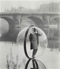 simone, bubble, seine, paris by melvin sokolsky