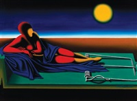 the poetry of silence (concentration) by mark kostabi