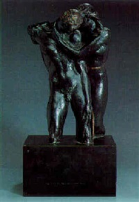 a couple embracing by alexander stirling calder