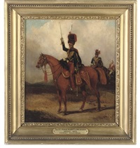 an officer of the 11th prince albert's own hussars by henry martens