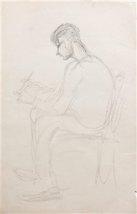 self portrait, sketching by robert henri
