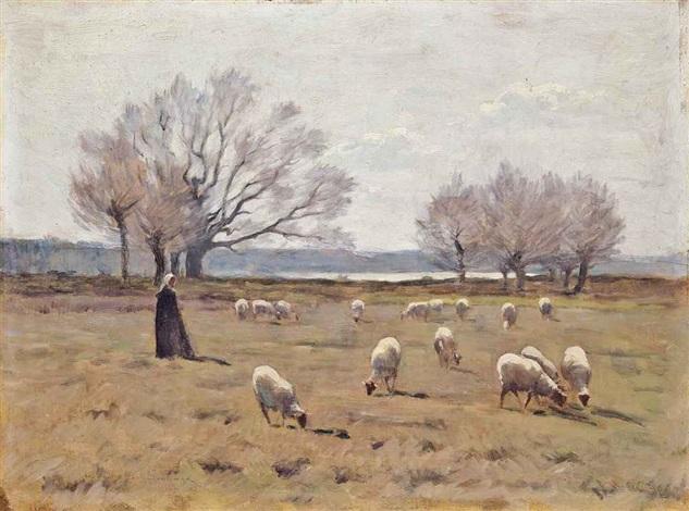 la jeune bergère by henri le sidaner