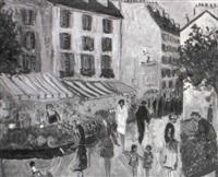 la rue mouffetard by jean claude picot