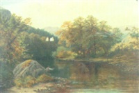 fishing on the lleddr, north wales by henry w. henley