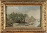 ballade en bateau de laeken à trois-fontaines by emile hoeterickx