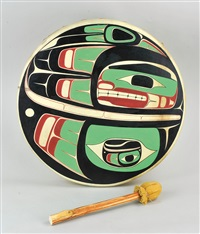 northwest coast drum: eagle by reg davidson