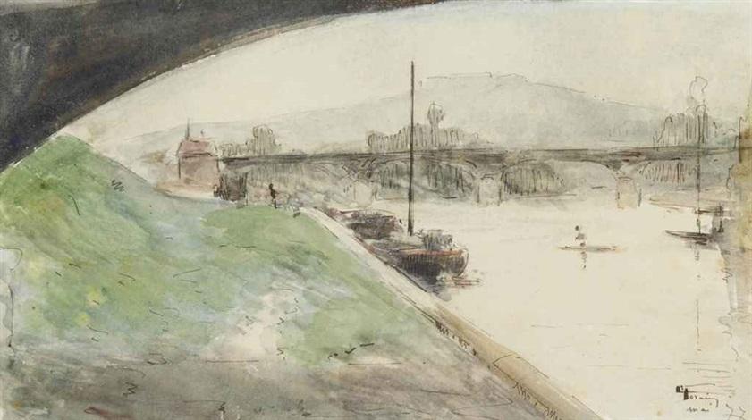 vue du mont valérien depuis les quais de la seine by jean louis forain