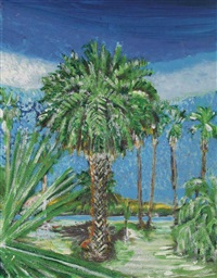 palm trees by yutaka sone