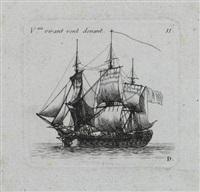 recueil de vaisseaux (portfolio of 12 incl. title pg., various sizes) by pierre ozanne