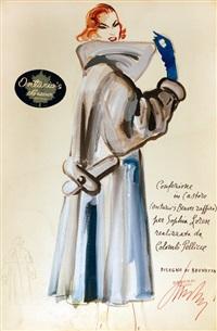 sophia loren indossa le pellicce colombi (5 works) by mateldi brunetta