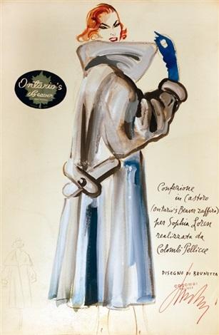 sophia loren indossa le pellicce colombi 5 works by mateldi brunetta