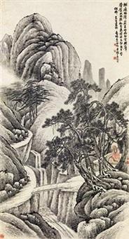 疏林春山 by wu zheng and qian huafo