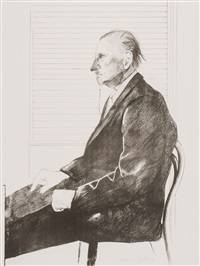 portrait of felix mann by david hockney