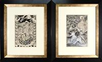 illustrations (pair) by eli jacobi