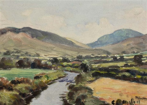 view of the mournes from above hilltown by charles j mcauley