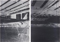frankfurt airport xv: hangar 5: may 7-12 (2 works) by vera lutter