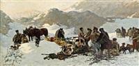 wildschweinjad in den karpaten by jaroslav friedrich julius vesin