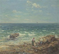 figures on a beach by edwin j. smith