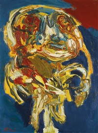 walking in the night by karel appel