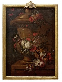still life with urns and flowers (pair) by gaspar pieter verbruggen the younger