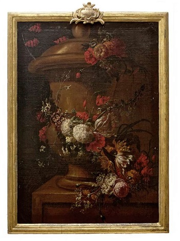 still life with urns and flowers pair by gaspar pieter verbruggen the younger