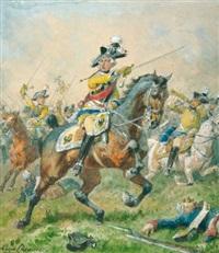 general friedrich wilhelm von seydlitz in der schlacht by louis (ludwig) braun