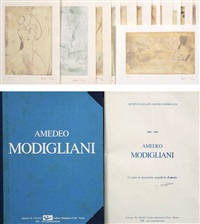 unica in acquatinta acquaforte d'aprees (set of 12) by amedeo modigliani