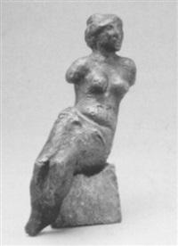 weiblicher torso, sitzend by joachim dunkel